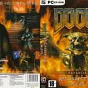 Doom 3: Resurrection of Evil (2005) CZ PC DVD Cover & Label