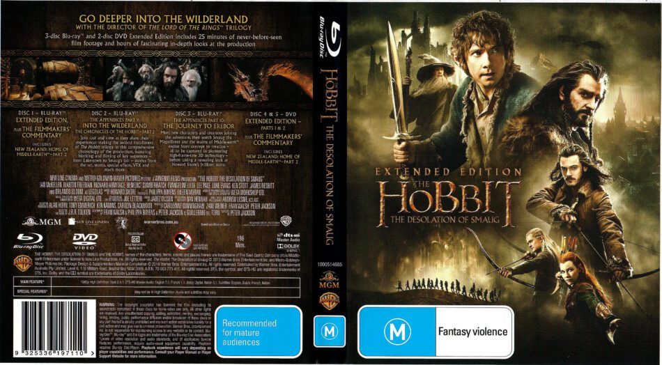 The Hobbit The Desolation Of Smaug 2013 R4 Blu Ray Cover Dvdcover Com