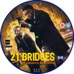 21 Bridges (2019) R2 Custom DVD Label
