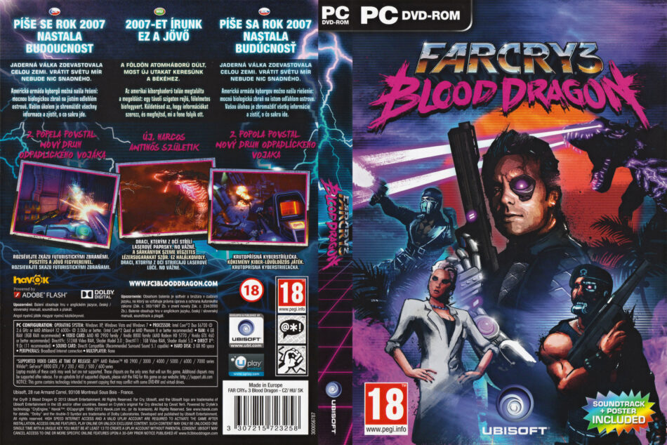 Far Cry 3 Blood Dragon 2013 Cz Sk Pc Dvd Cover Labels