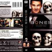 BONES SEASON FOUR (2008-2009) R1 DVD COVER & LABELS