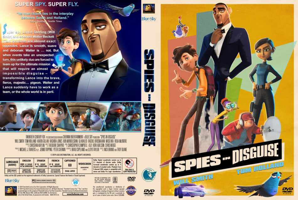 Spies In Disguise 2019 R1 Custom Dvd Cover Label V2 Dvdcover Com