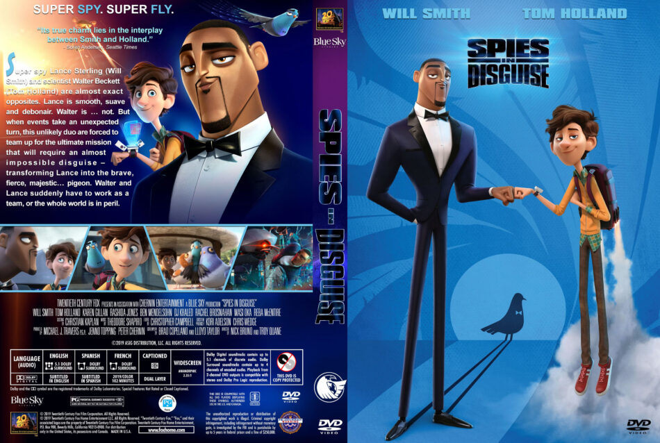 Spies In Disguise 2019 R1 Custom Dvd Cover Label V3 Dvdcover Com