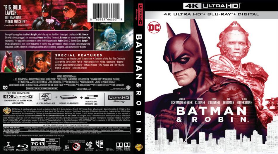 Batman Robin 1997 4k Uhd Blu Ray Cover Dvdcover Com