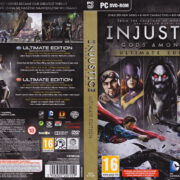 Injustice: Gods Among Us - Ultimate Edition (2013) EU PC DVD Cover & Labels