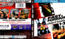 FAST AND FURIOUS 6 MOVIE COLLECTION (2014) BLU-RAY COVER & LABELS