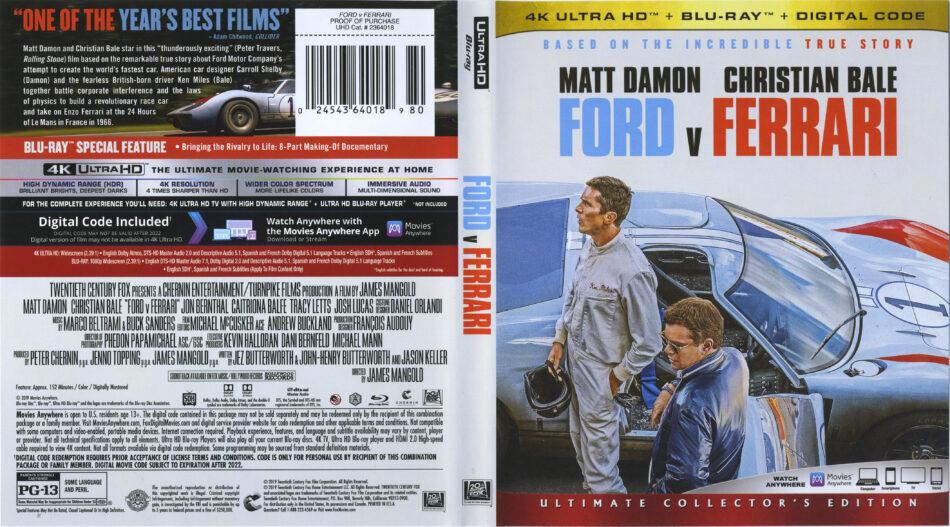 Ford V Ferrari 2019 Ra 4k Uhd Blu Ray Cover Labels Dvdcover Com