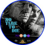 No Time To Die (2020) RB Custom Blu-ray Label