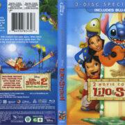 Lilo & Stitch: 2 Movie Collection (2013) R1 Blu-Ray Cover & Labels