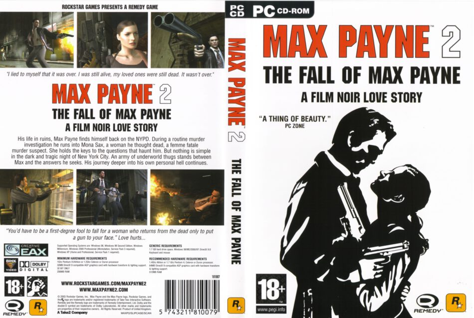 Max Payne 2 The Fall Of Max Payne 2003 Eu Pc Dvd Cover Labels Dvdcover Com