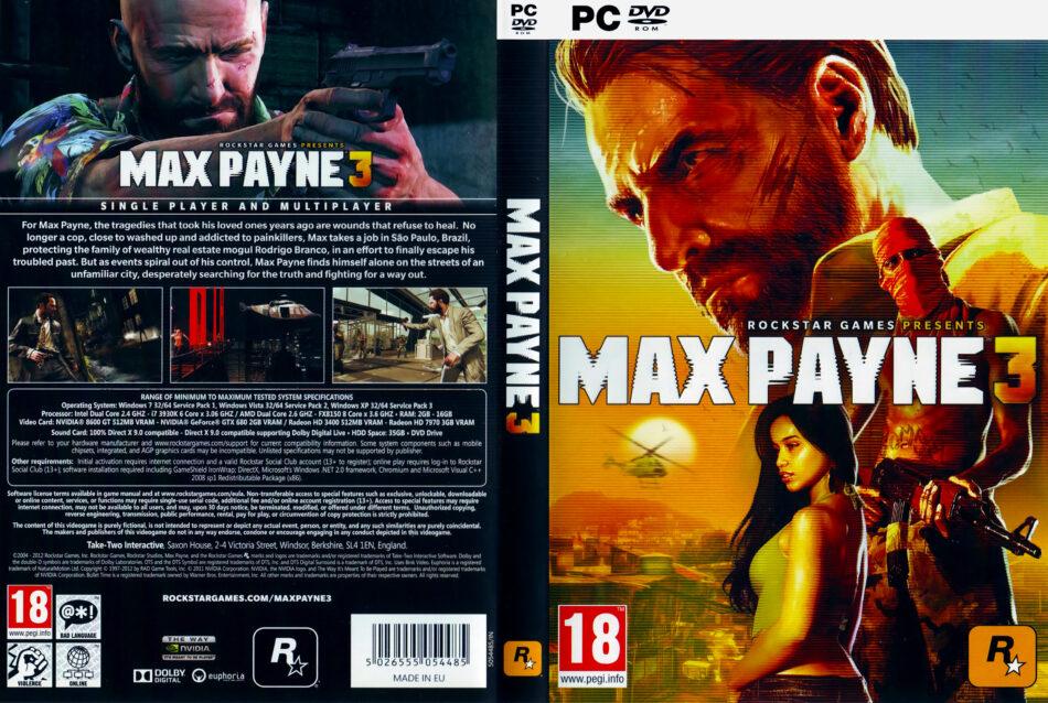 Max Payne 3 2012 Eu Pc Dvd Cover Labels Dvdcover Com