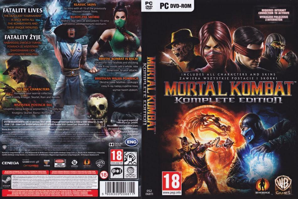 Mortal Kombat Komplete Edition 2013 Eu Pc Dvd Cover Label Dvdcover Com
