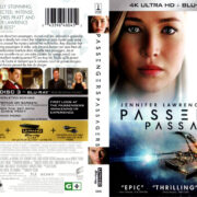 PASSENGERS (2016) 4K/3D BLU-RAY COVER & LABELS