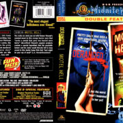 DERANGED (1974) / MOTEL HELL (1980) DOUBLE FEATURE R1 DVD COVER & LABEL