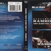 Rambo: First Blood Part II & Rambo III (1985-1988) Blu-Ray Cover & Labels
