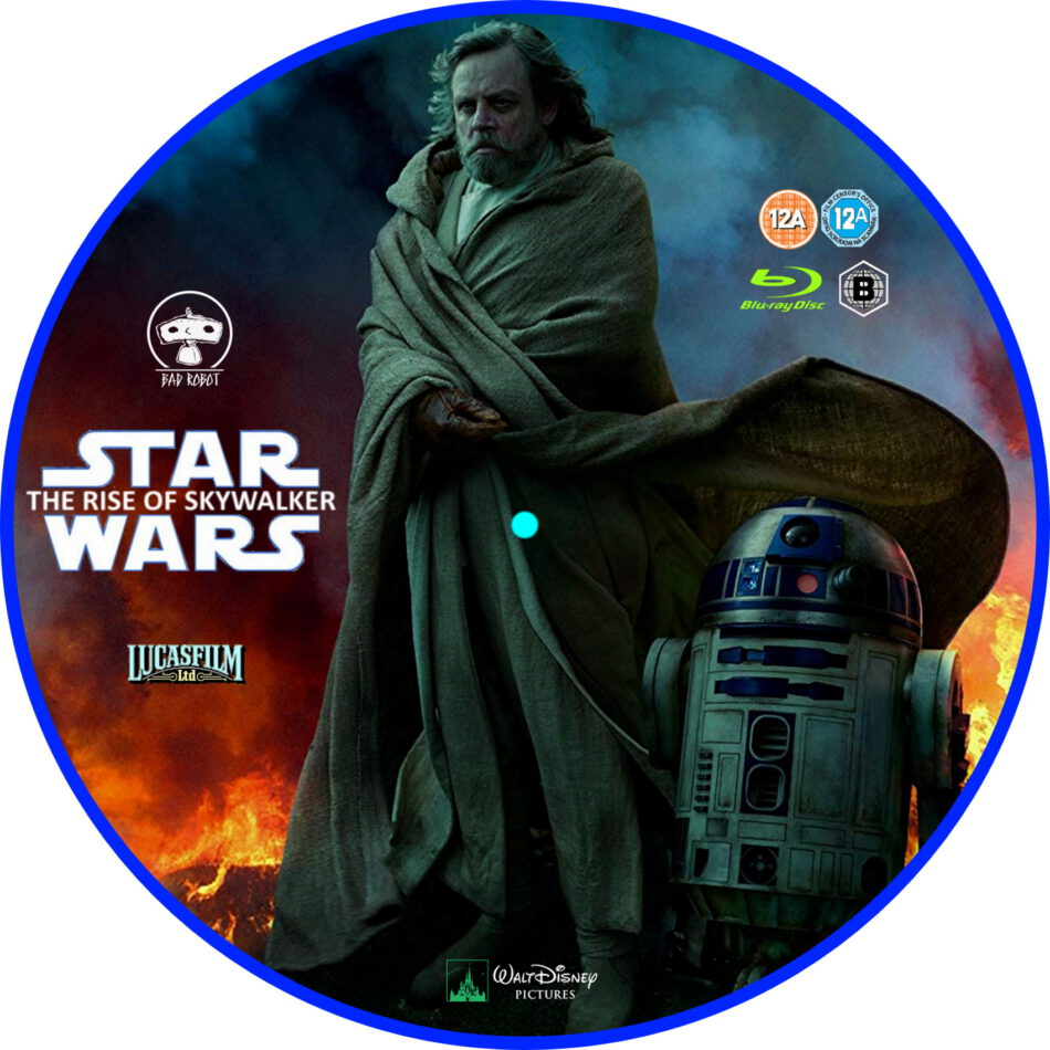 Star Wars Ix The Rise Of Skywalker 2019 R2 Bluray Label Dvdcover Com