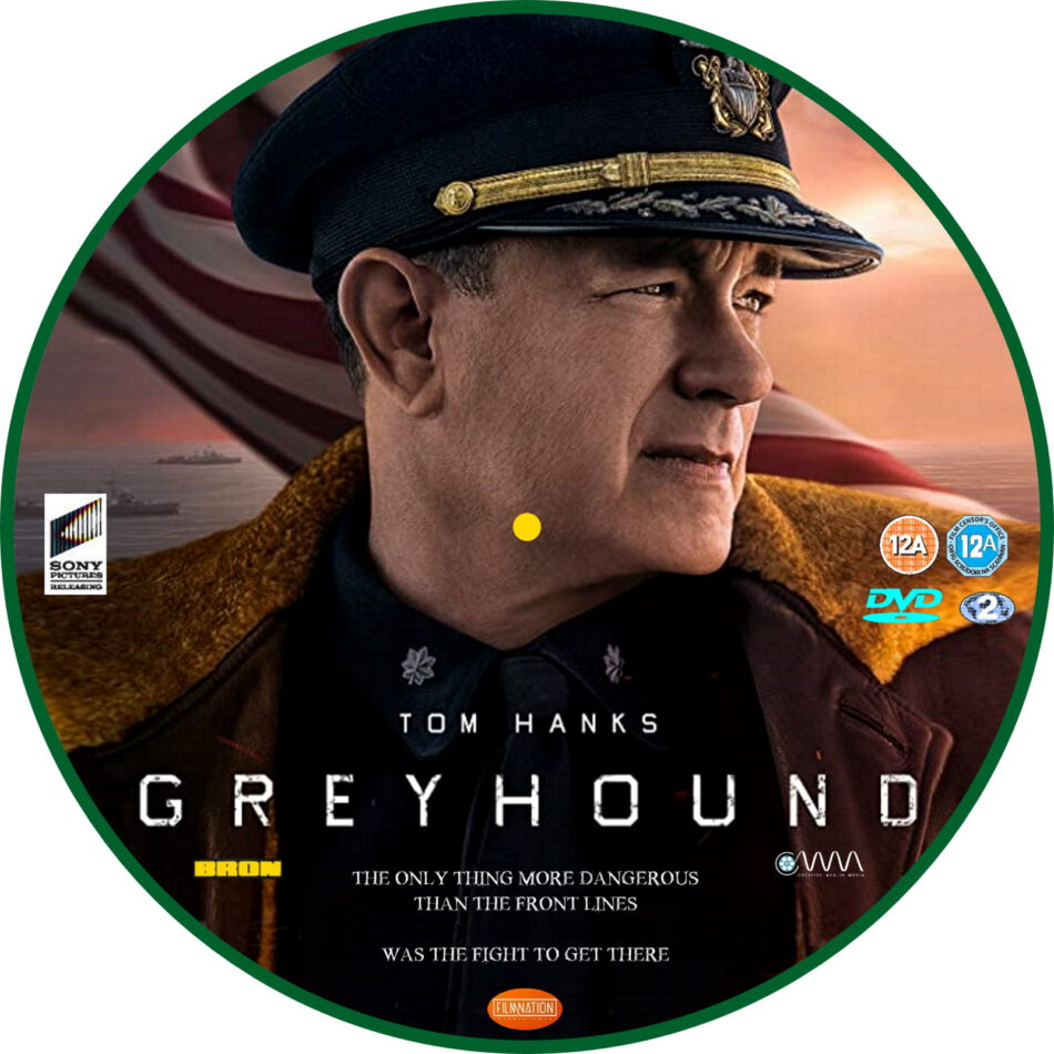 greyhound  2020  r2 custom dvd label