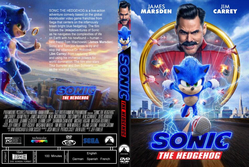 Sonic The Hedgehog 2020 R1 Custom Dvd Cover Label Dvdcover Com