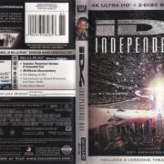 ID4: Independence Day (1996) R1 4K UHD Blu-Ray Cover & Labels