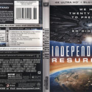 Independence Day: Resurgence (2017) RA 4K UHD Blu-Ray Cover & Labels