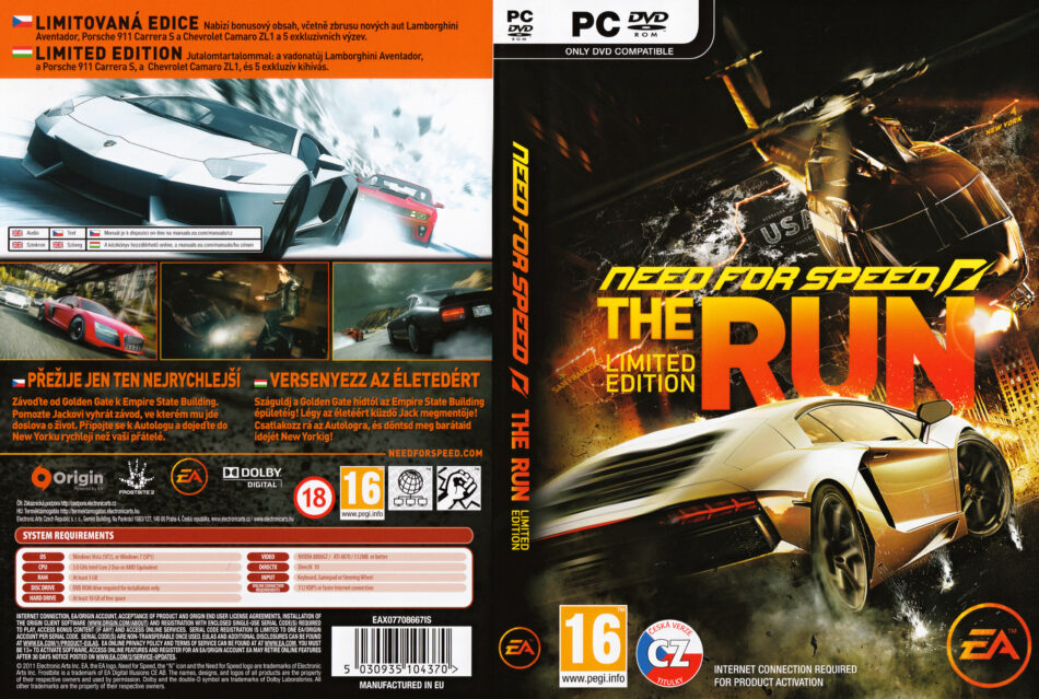 Need For Speed The Run 2011 Cz Pc Dvd Cover Labels Dvdcover Com