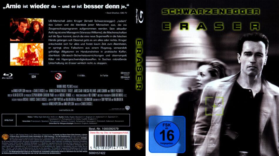 Eraser 1996 German Blu Ray Cover Dvdcover Com