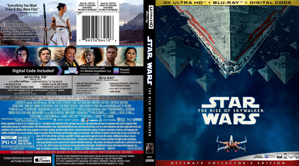 Star Wars Episode Ix The Rise Of Skywalker 2020 4k Uhd Blu Ray Cover Dvdcover Com