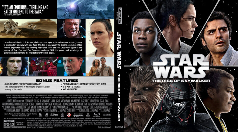 Star Wars The Rise Of Skywalker 2019 Custom 4k Uhd Blu Ray Cover Dvdcover Com