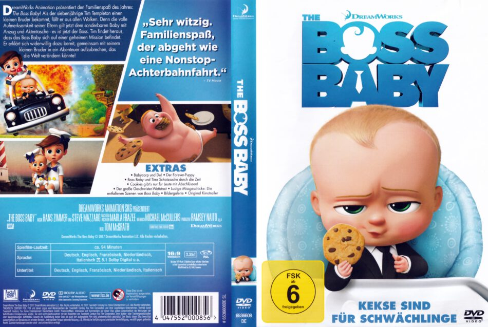 The Boss Baby 2017 R2 German Dvd Cover Dvdcover Com