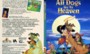 All Dogs Go To Heaven (1989) R1 SLIM DVD Cover & Labels