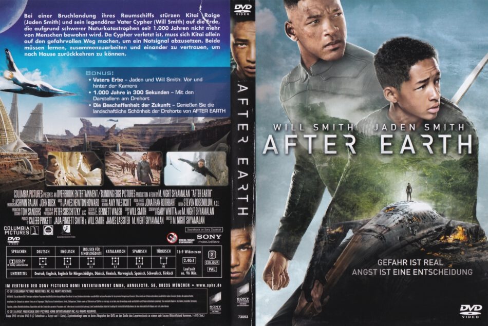After Earth 2013 R2 German Dvd Cover Dvdcover Com