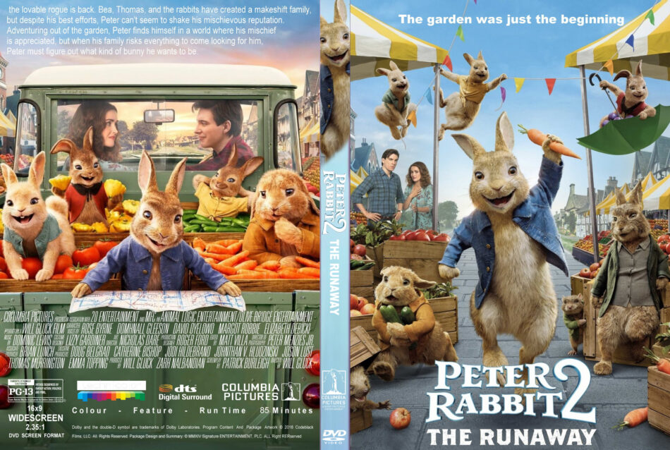 Peter Rabbit 2 (2020) R1 Custom DVD Cover & Label - DVDcover.Com