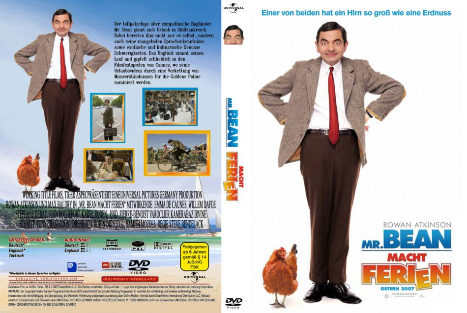 Mr Bean Macht Ferien 2007 R2 German Dvd Cover Dvdcover Com