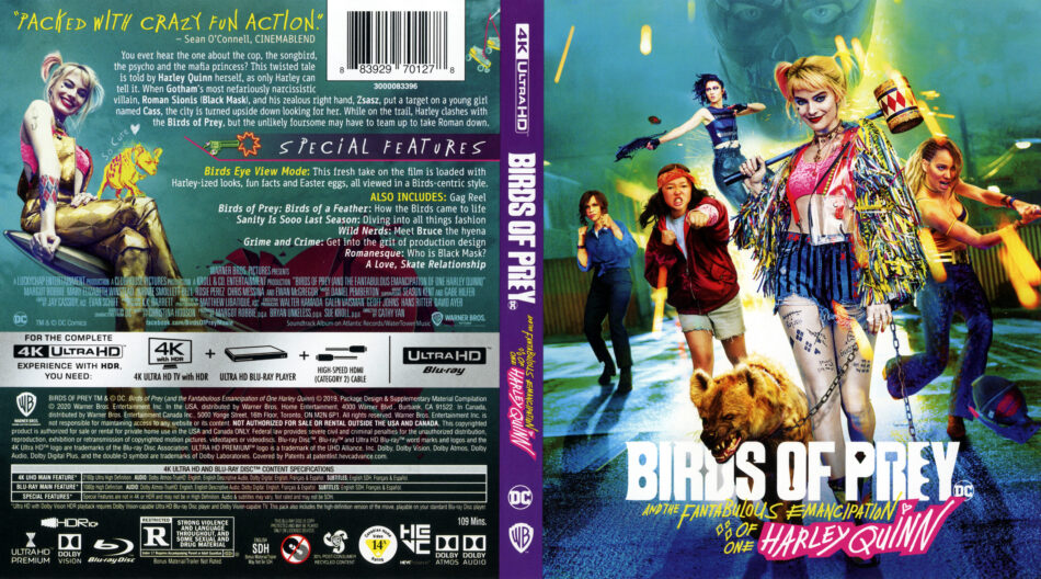 Birds Of Prey And The Fantabulous Emancipation Of One Harley Quinn 2020 4k Uhd Blu Ray Cover Dvdcover Com