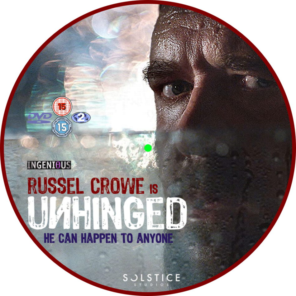 unhinged  2020  r2 custom dvd label