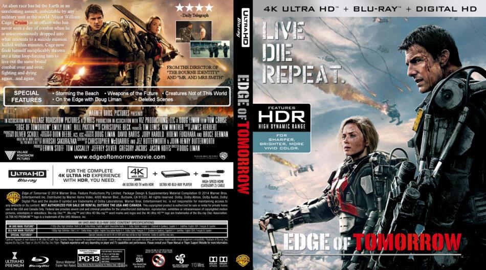 Edge Of Tomorrow 2014 R1 Custom 4k Uhd Blu Ray Cover Label Dvdcover Com