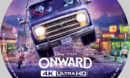 Onward (2020) R1 Custom 4K Blu-Ray Label