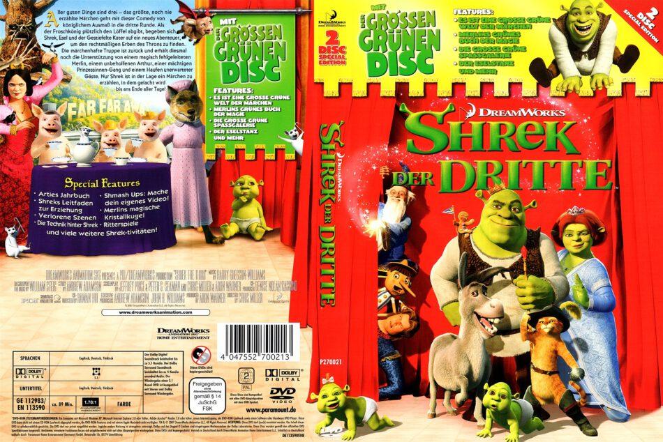 Shrek 3 2007 R2 German Dvd Cover Dvdcover Com