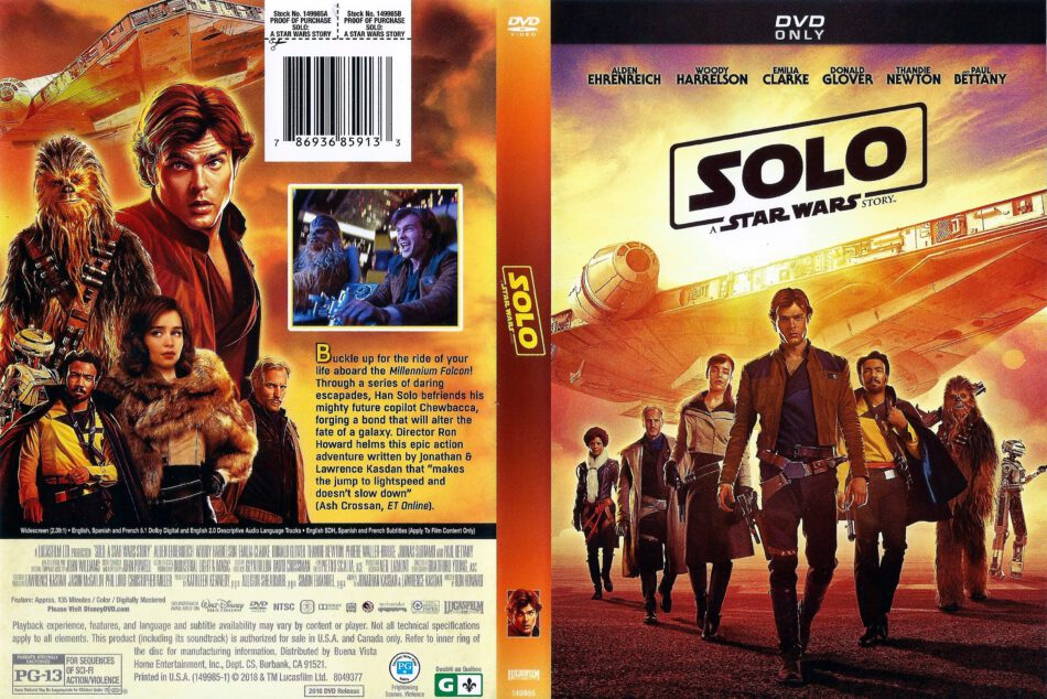 Solo A Star Wars Story 2018 R1 Dvd Cover Dvdcover Com