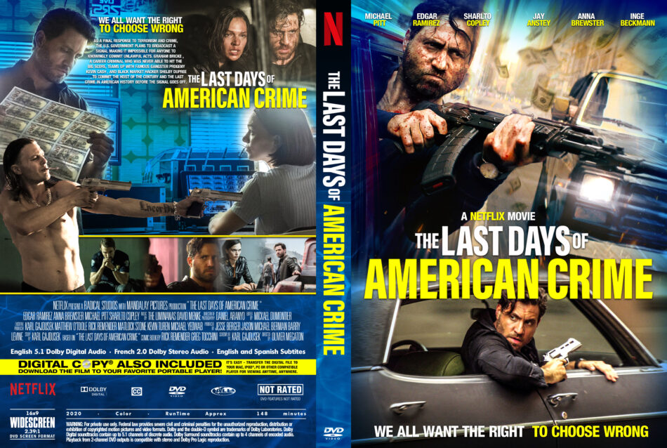 The Last Days Of American Crime 2020 R0 Custom Dvd Cover Label Dvdcover Com