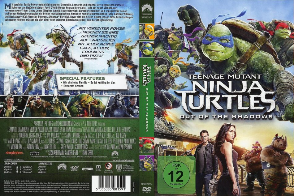 Teenage Mutant Ninja Turtles 2 2016 R2 German Dvd Covers Dvdcover Com