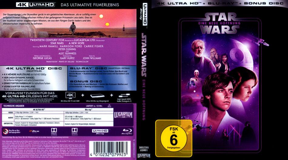 Star Wars Episode Iv Eine Neue Hoffnung 1977 4k Uhd German Cover Dvdcover Com
