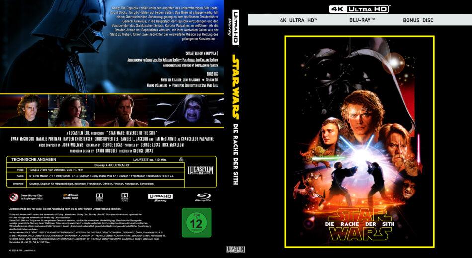 Star Wars Episode Iii Die Rache Der Sith 2005 De 4k Uhd Custom Cover Dvdcover Com