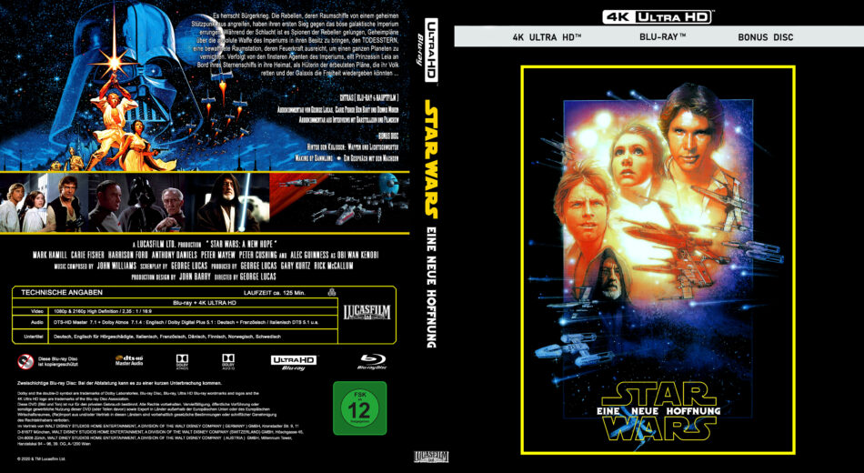 Star Wars Episode Iv Eine Neue Hoffnung 1977 De 4k Uhd Custom Covers Dvdcover Com