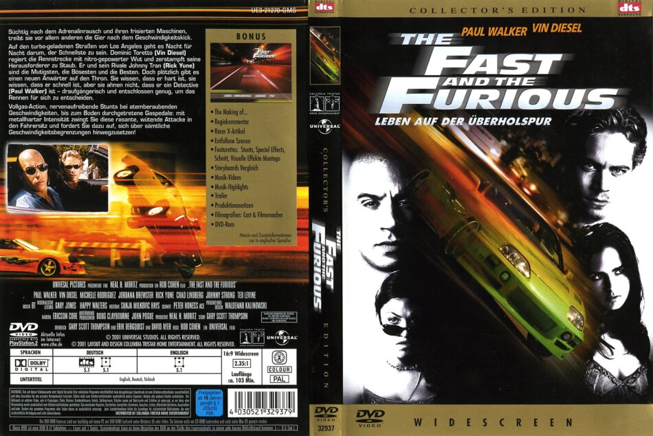 The Fast And The Furious 2001 R2 De Dvd Covers Dvdcover Com