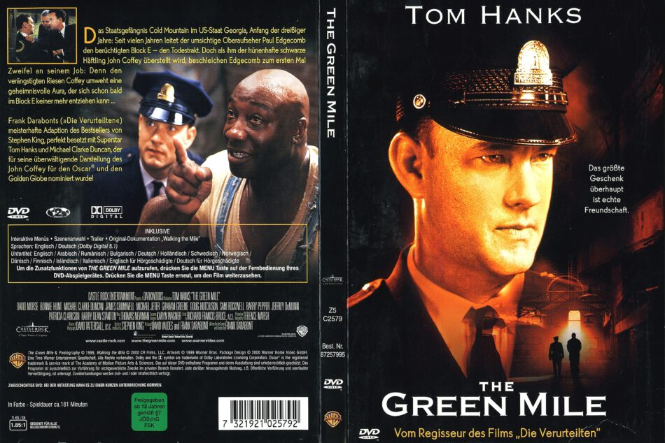 The Green Mile 1999 R2 De Dvd Cover Dvdcover Com