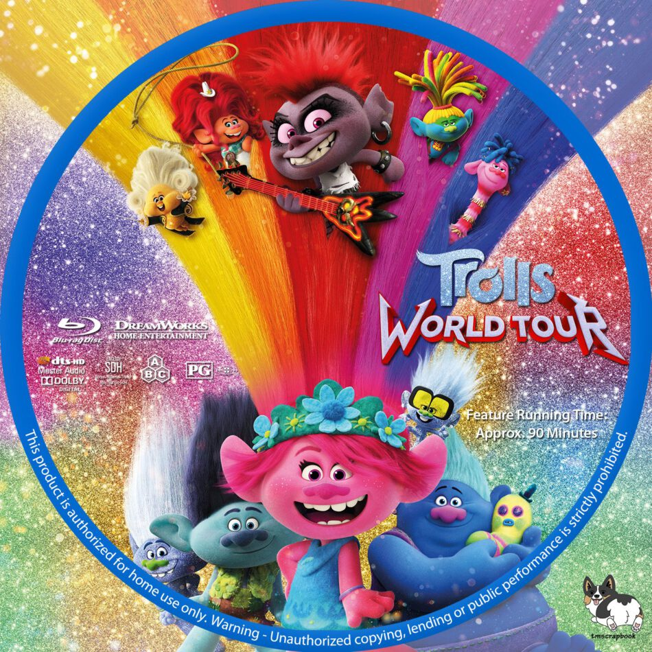 Trolls World Tour 2020 Custom Blu Ray Label Dvdcover Com