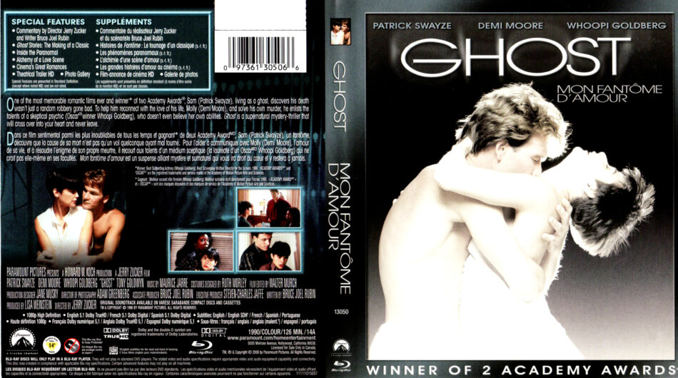 Ghost 1990 Bluray Cover Label Dvdcover Com
