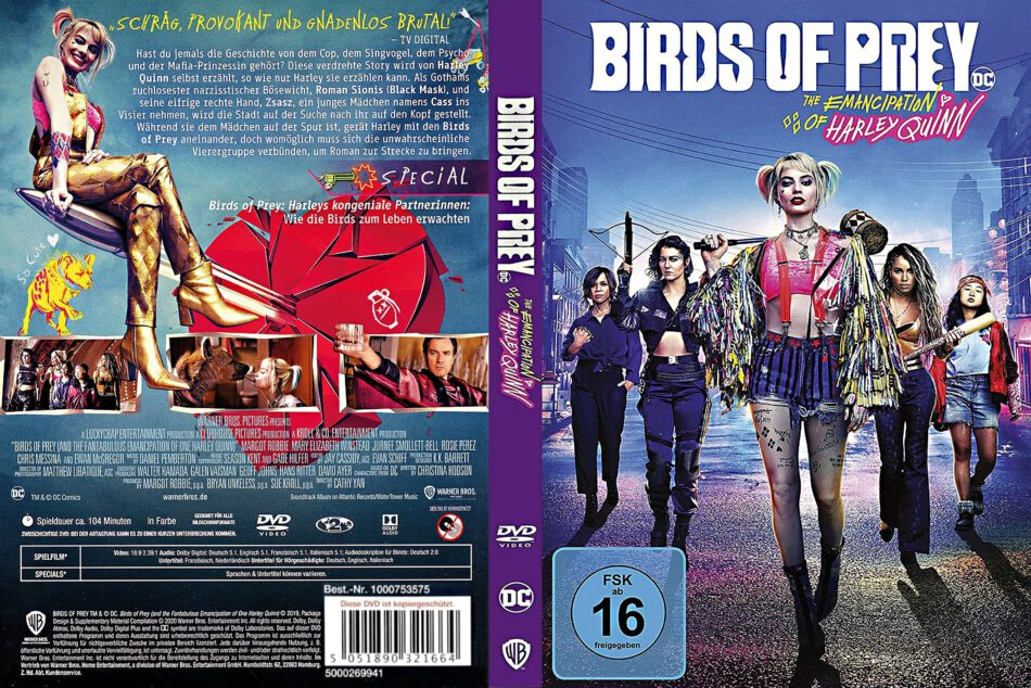 Birds Of Prey 2019 R2 De Dvd Cover Dvdcover Com