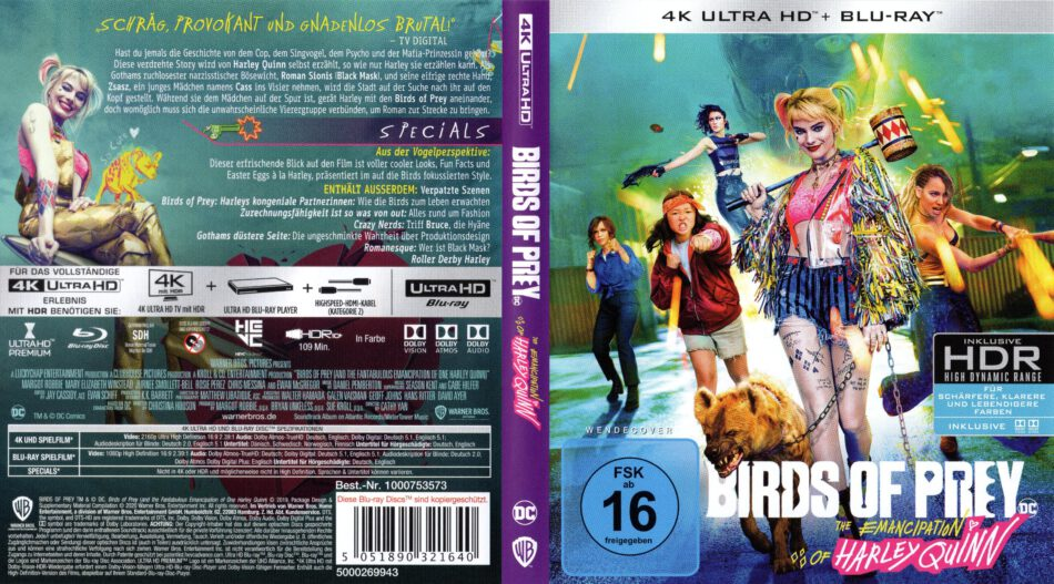 Birds Of Prey 2020 De 4k Uhd Cover Dvdcover Com